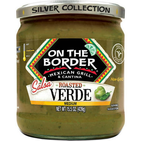 (2 Pack) On The Border Medium Roasted Salsa Verde, 15.5 oz