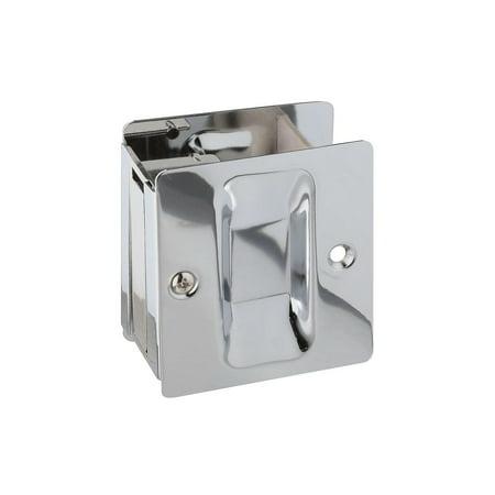 Chrome Pocket Door Hardware - LATCH/PULL POCKET DR CHM