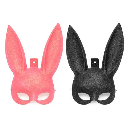 Halloween Masks Party Supplies (Halloween Party Bunny Rabbit Face Mask Cosplay Costume Party Men Women Dance Masquerade)
