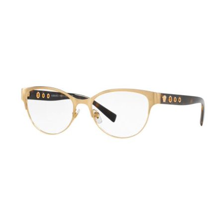 4a2075cec2ca VERSACE Eyeglasses VE1237 1352 Brushed Gold 53MM - Walmart.com
