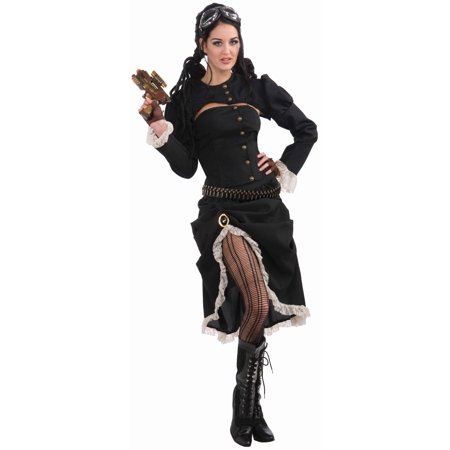 Steampunk Renegade Jacket w/Corset Costume Adult Standard - Teen Steampunk Costume