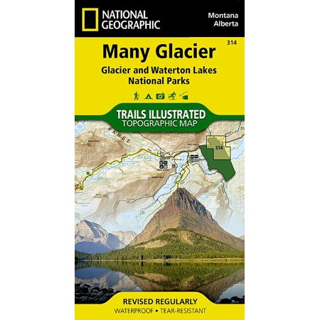 National Geographic Maps: Trails Illustrated: Many Glacier: Glacier and Waterton Lakes National Parks - Folded