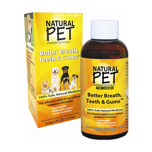 Natural Homeopathic Pet Better Breath, Teeth And Gums For Canines - 4 Oz