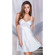 Satin Chemise with Lace Insets