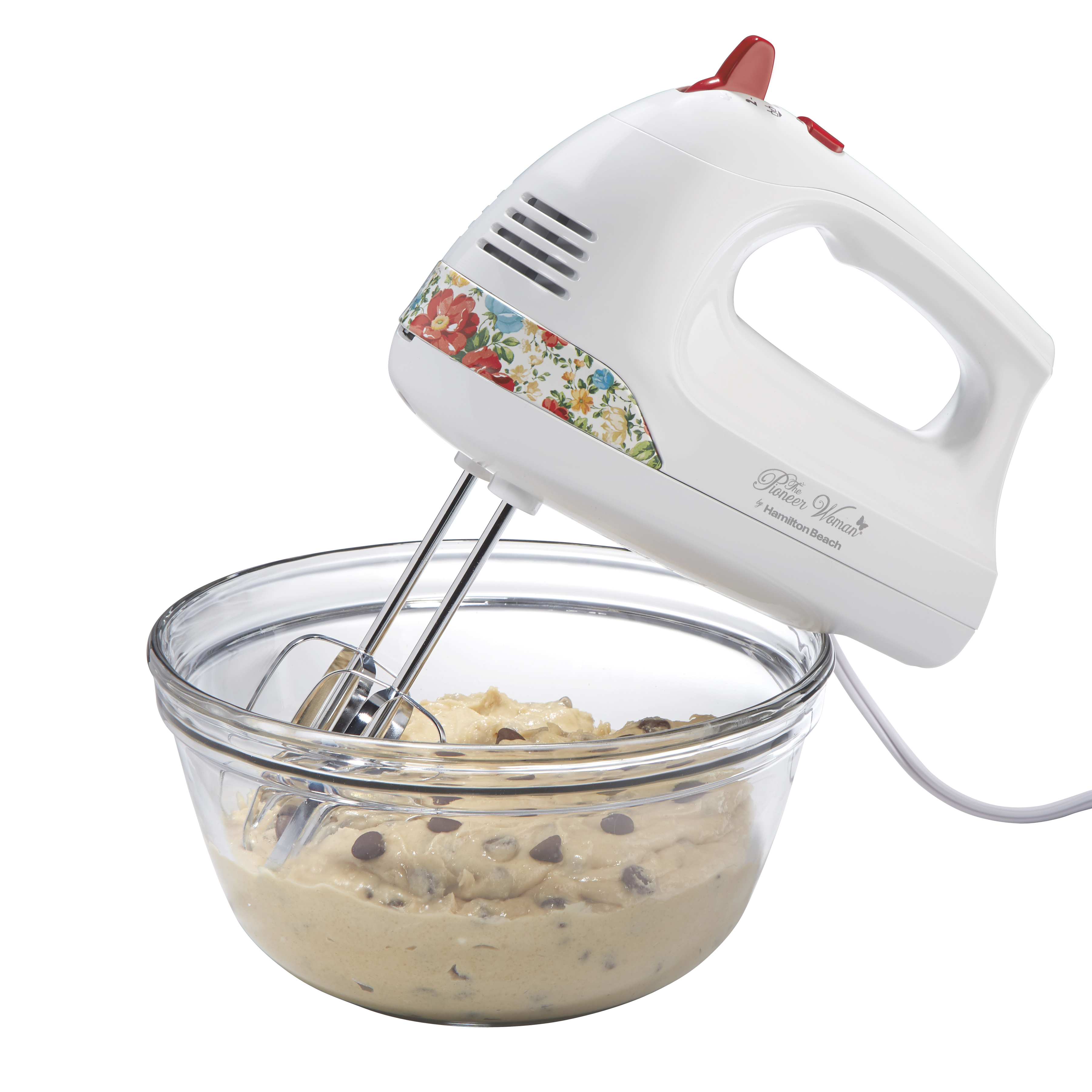 The Pioneer Woman 6 Speed Hand Mixer With Vintage Floral Design And Snap On Case Walmart Com Walmart Com