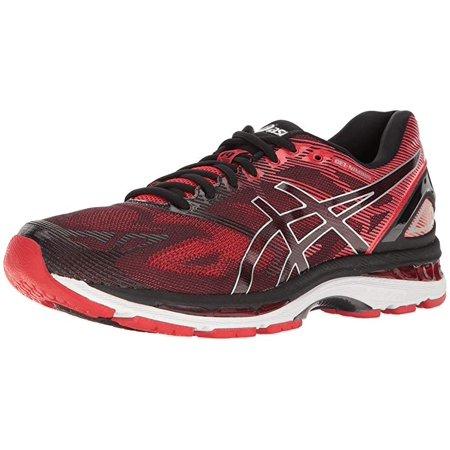 reputable site 8af90 b4172 ASICS Men's Gel-Nimbus 19 Running Shoe, Black/Vermilion/Silver, 15 D US