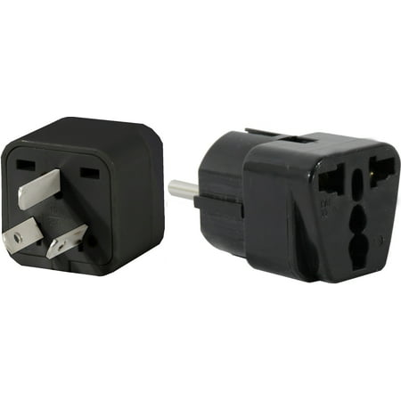 US to ARGENTINA Travel Adapter Plug Universal South America Type I & E(C/F) Pk 2