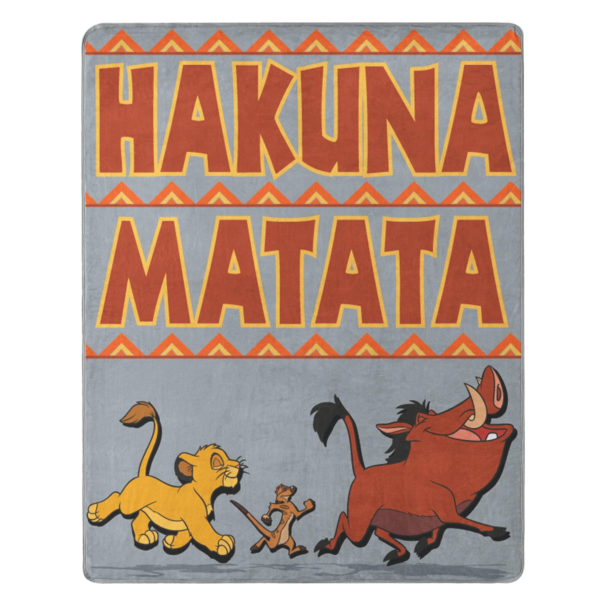 The Lion King Hakuna Matata Silk Touch Throw Blanket 40 X 50 Walmart Com Walmart Com
