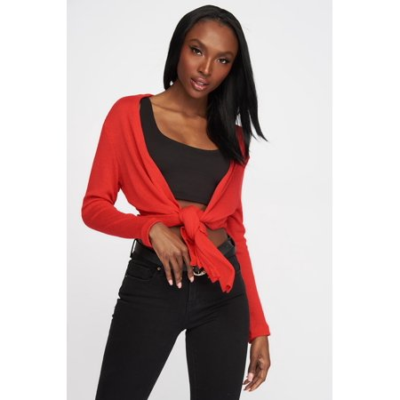 8d7d524107003f Urban Planet Women's Knit Open-Front Basic Cardigan - image 7 of ...
