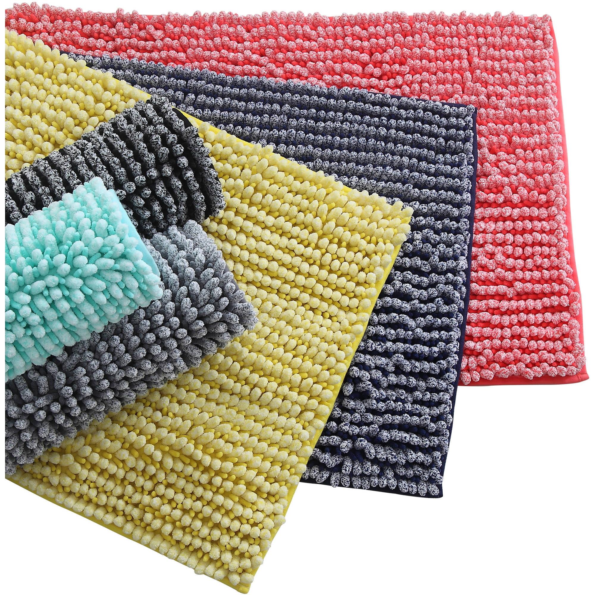 discontinued*** mainstays microfiber noodle bath rug - walmart