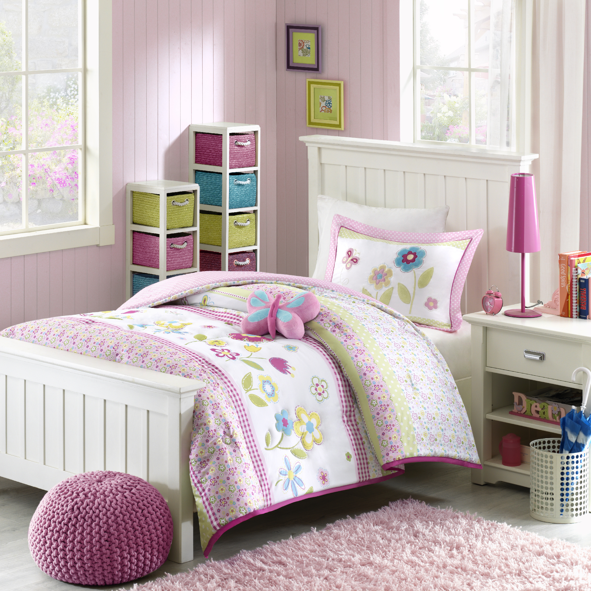 Home Essence Kids Blossoms Printed Bedding Comforter Set by E&E Co. Ltd