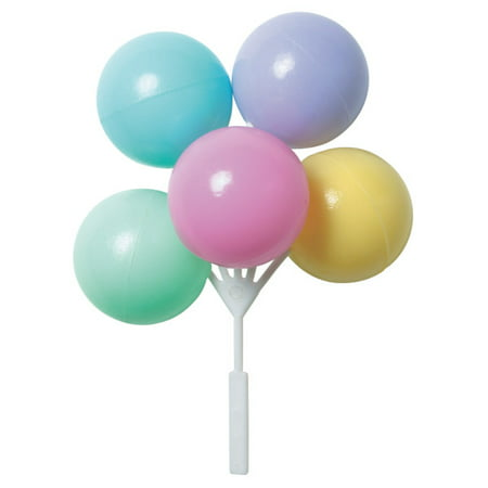Pastel Colors Balloon Cake Topper Cluster - 4 Count (Pastel Balloons)