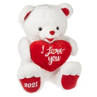 Way To Celebrate Valentine's Day Jumbo Sweetheart Teddy, White