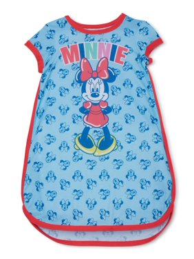 Disney Minnie Mouse Girls Exclusive Short Sleeve Pajama Nightgown, Sizes 4-12