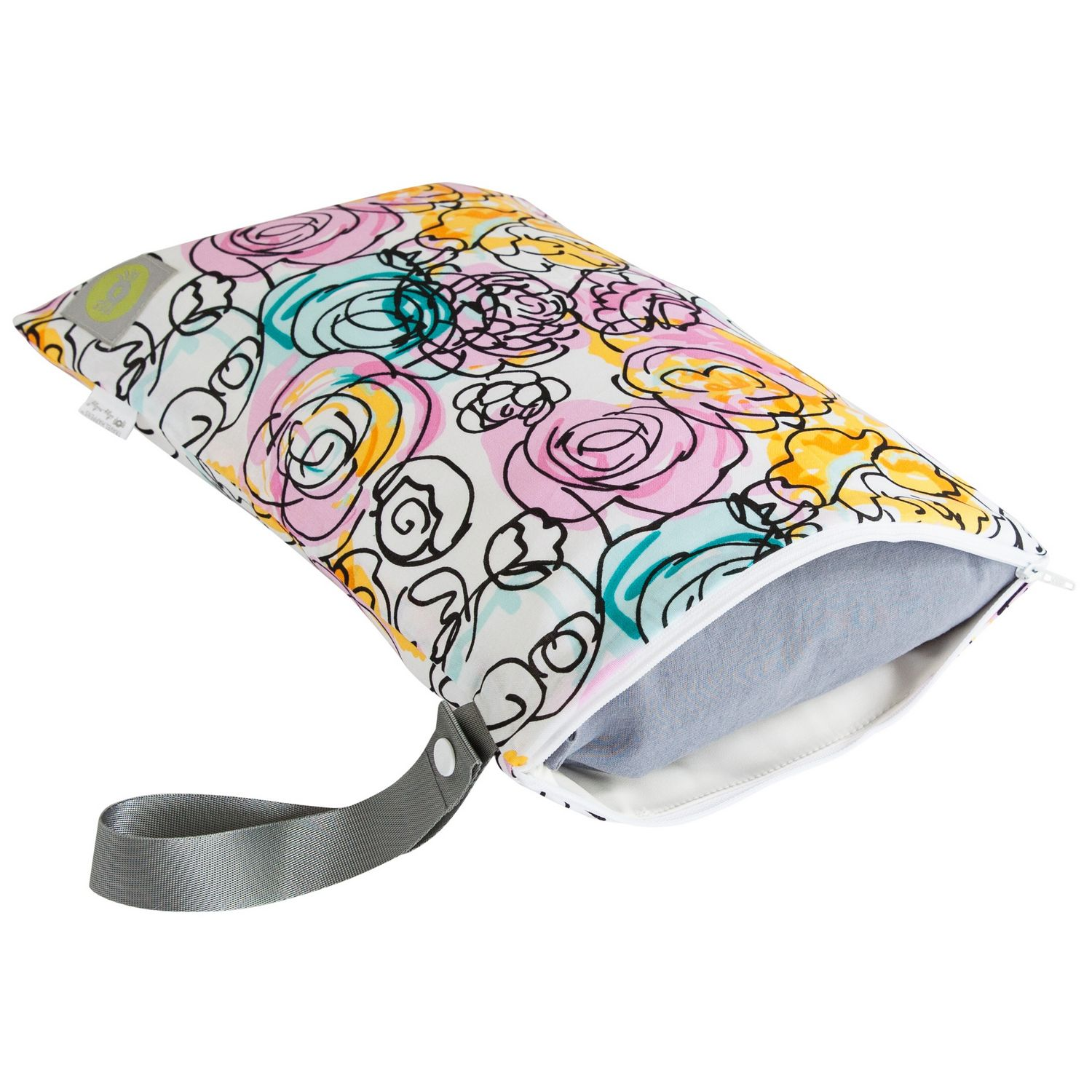 Itzy Ritzy Travel Happens Sealed Wet Bag - Watercolor Bloom