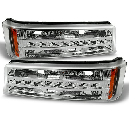 Chevy Silverado Turn Signal - 03-06 Chevy Silverado 1500 2500 3500 Avalanche LED Bumper Lights Signal Lamps