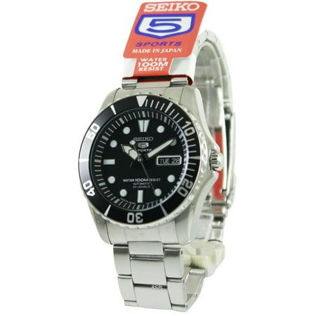 Seiko 5 Sports Automatic 23 Jewels Japan Made SNZF17 SNZF17J1 SNZF17J Men's Watch Automatic Japan Mens Wrist Watch