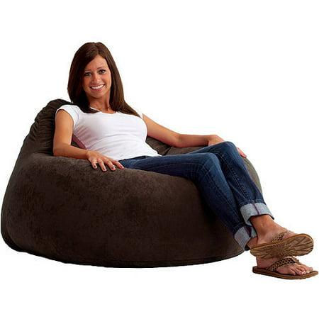 Fuf Chillum Comfort Suede Bean Bag Chair Multiple Colors