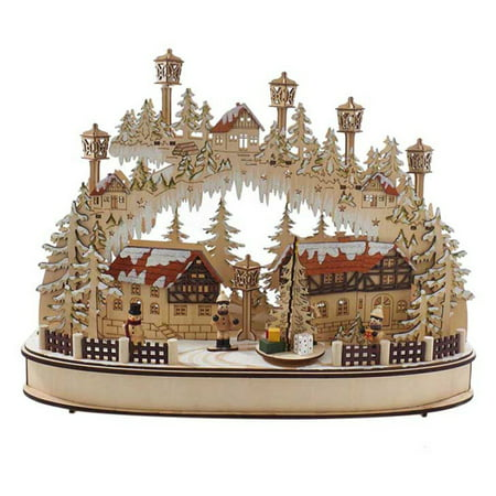 Kurt Adler 16.5-inch Battery Operated Musical LED Village House Table piece ()