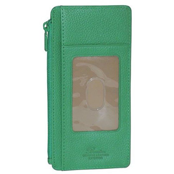 newest collection 6a475 24ea7 Buxton Womens Leather 3 in 1 Thin Credit Card Case Wallet / Change Purse /  Id Holder (Bright Green)