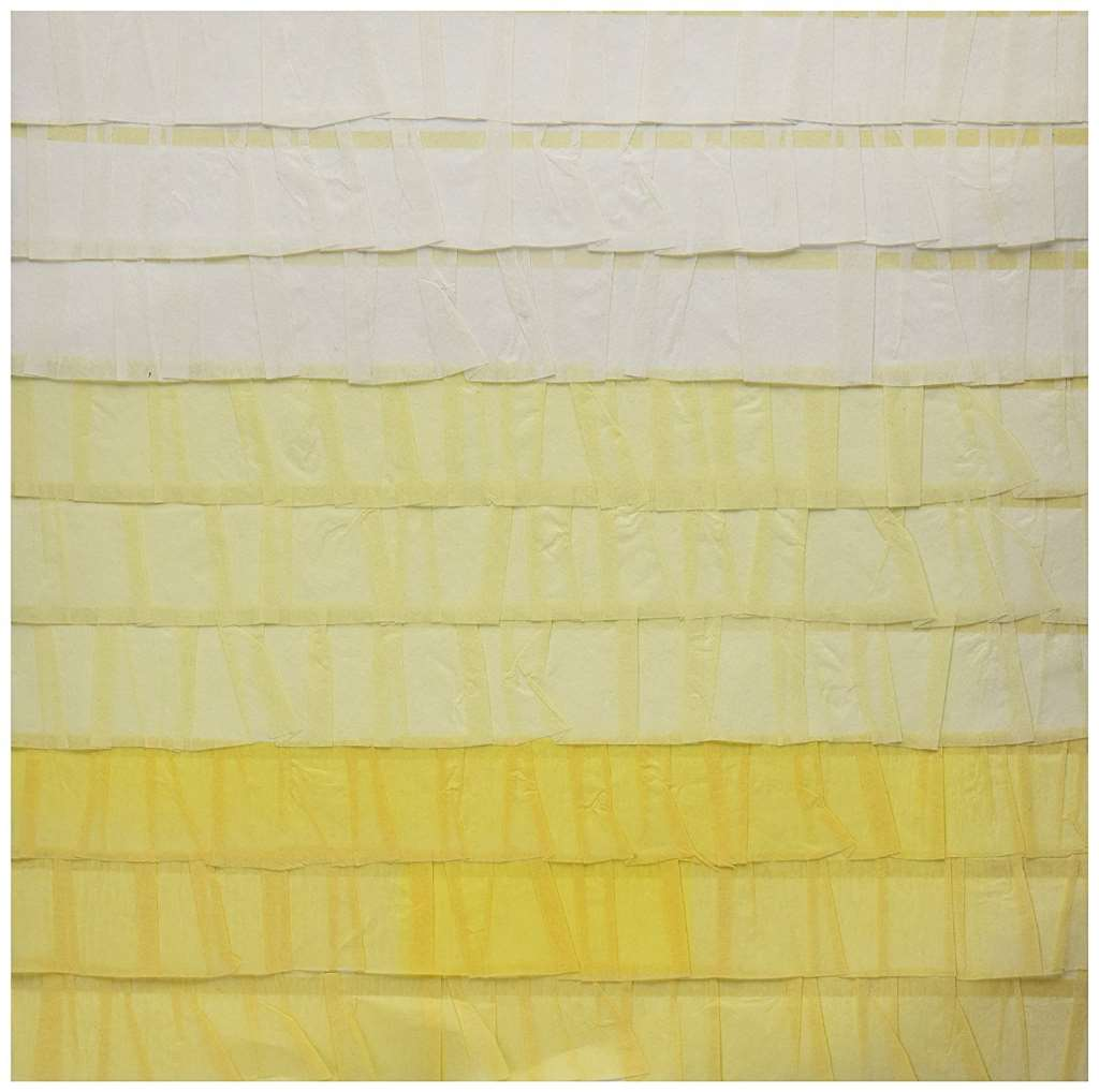 """Dear Lizzy Neapolitan Stitched Ruffle Crepe Paper 12""""X12""""-Endless Summer Yellow  15 per pack"""