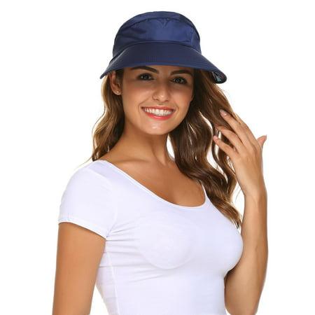 6 Colors Women Summer Folding Visor Hats UV Protection Wide Brim Cap Sun Hats RllYE