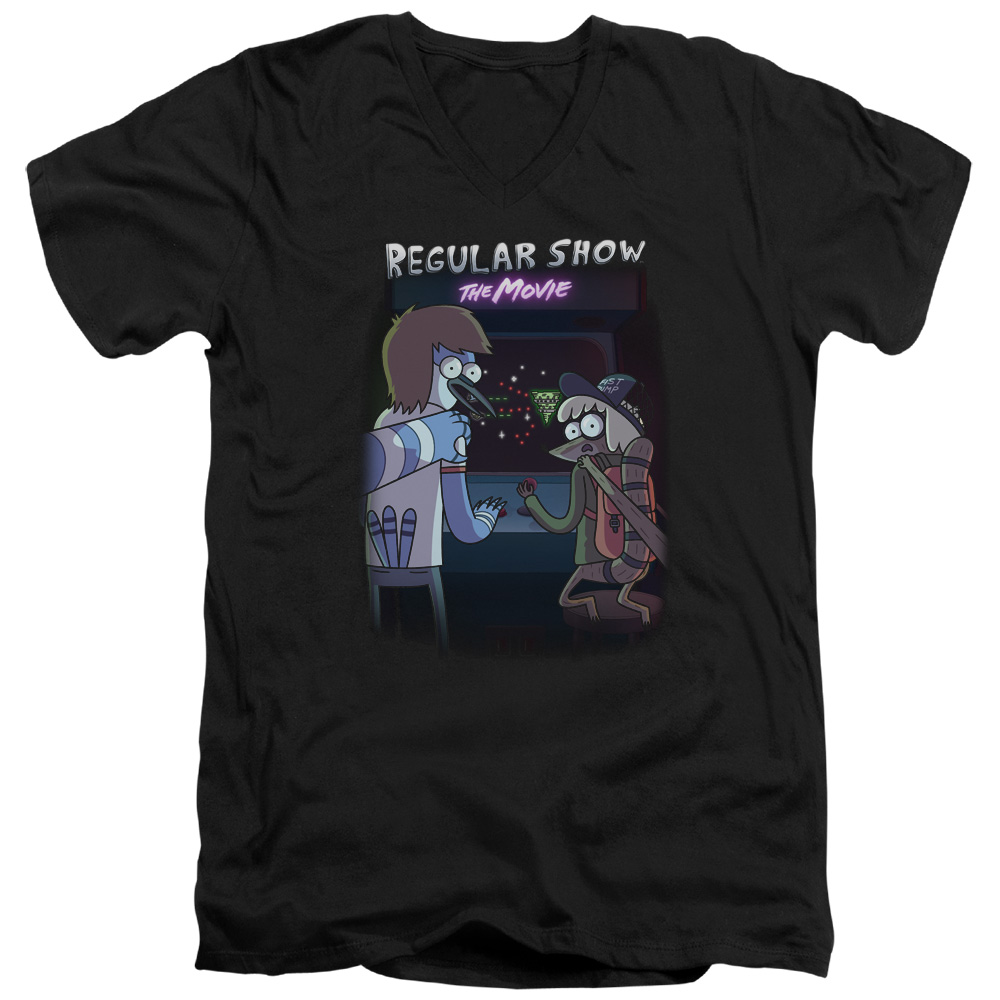 Regular Show Rs The Movie Officially Licensed Adult V Neck T Shirt