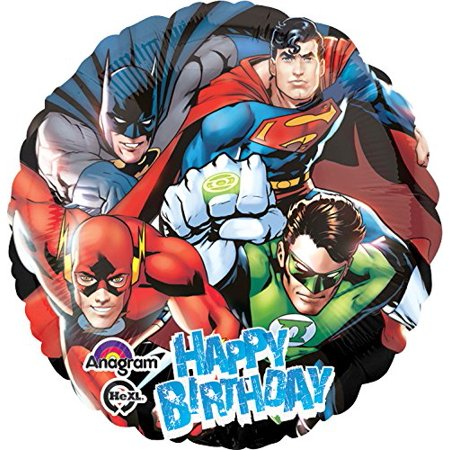Justice League Happy Birthday Foil Balloon Pack, 18