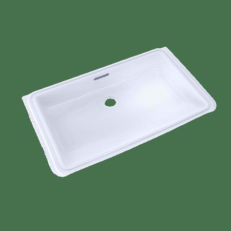 Toto rectangular undermount bathroom sink with cefiontect cotton white lt191 01 Toto undermount bathroom sinks