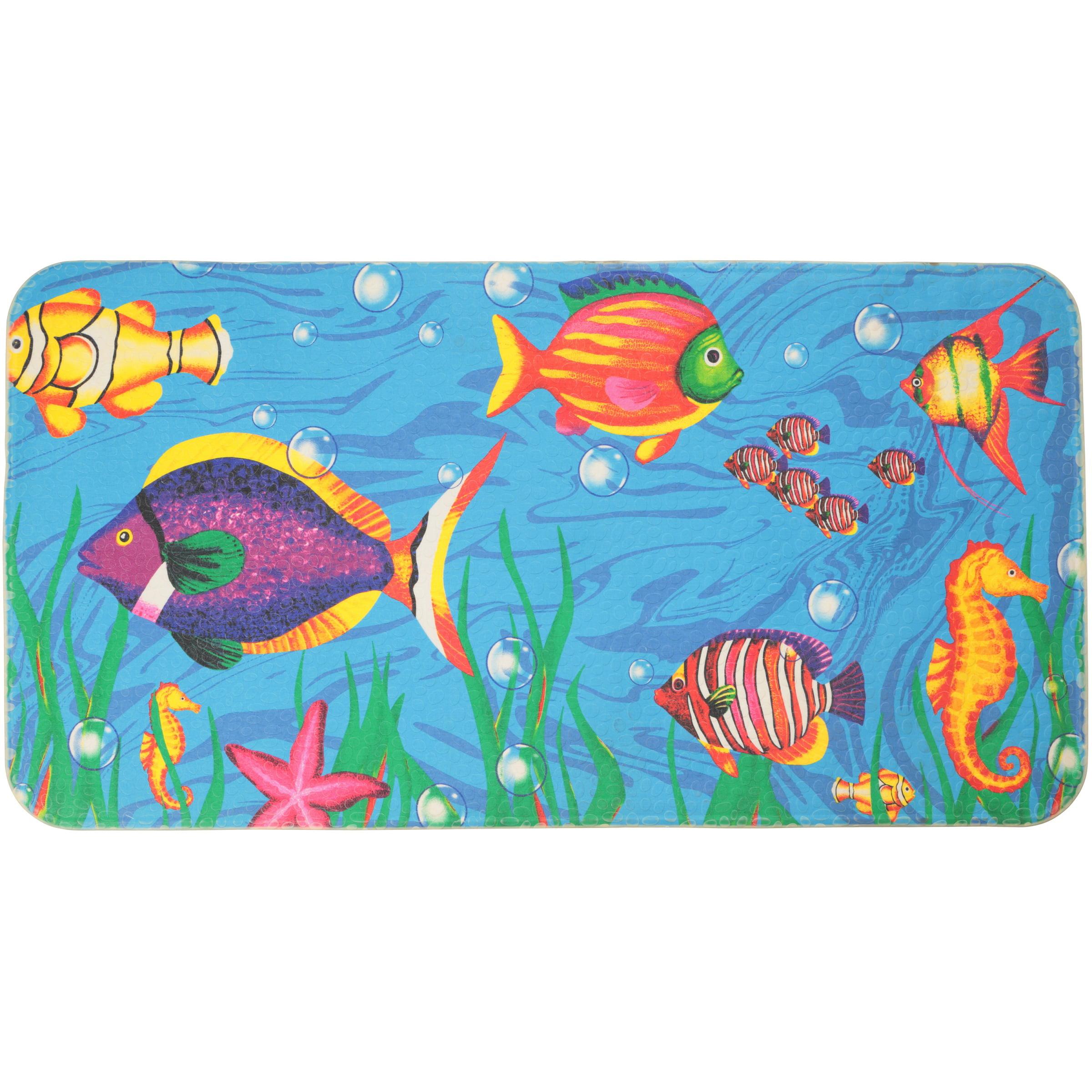 "Con-Tact® Sea Fish 16"" x 30"" Bath Mat Pack"