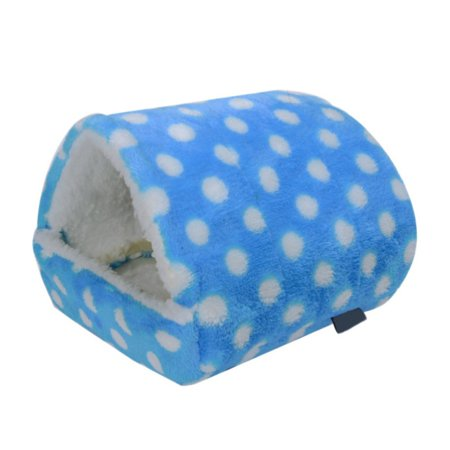 Rat Hamster House Bed Winter Warm Fleece Small Pet Squirrel Hedgehog Chinchilla Rabbit Guinea Pig Bed House Cage Nest Hamster Accessories