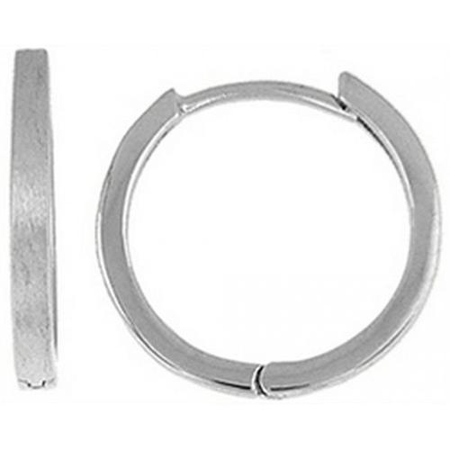 Doma Jewellery DJS02249 Sterling Silver (Rhodium Plated) Hoop Earring