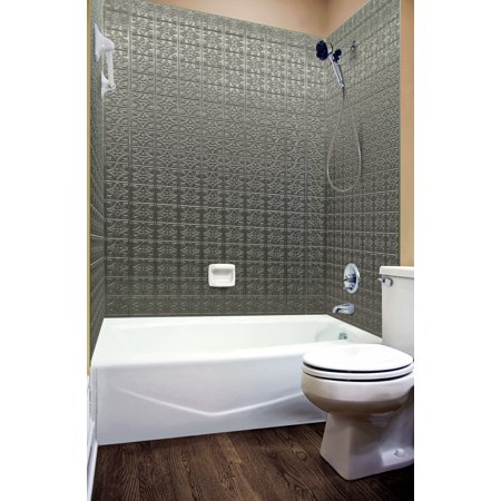 MirroFlex Tub and Shower Surround - Savannah in Galvanized ...
