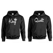 KING and QUEEN - Couples TWO Hoodie COMBO