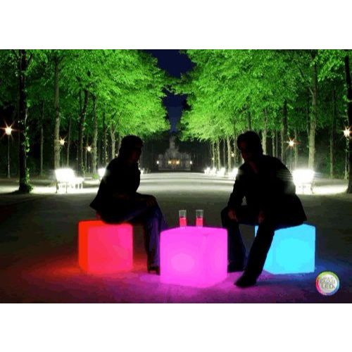 Huge LED Cube Light Chair Stool Table Furniture