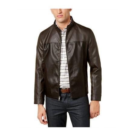 Alfani Jacket (Alfani Mens Faux-Leather Bomber Jacket )