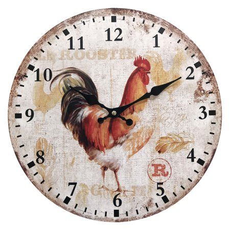 Rooster Wooden Clock