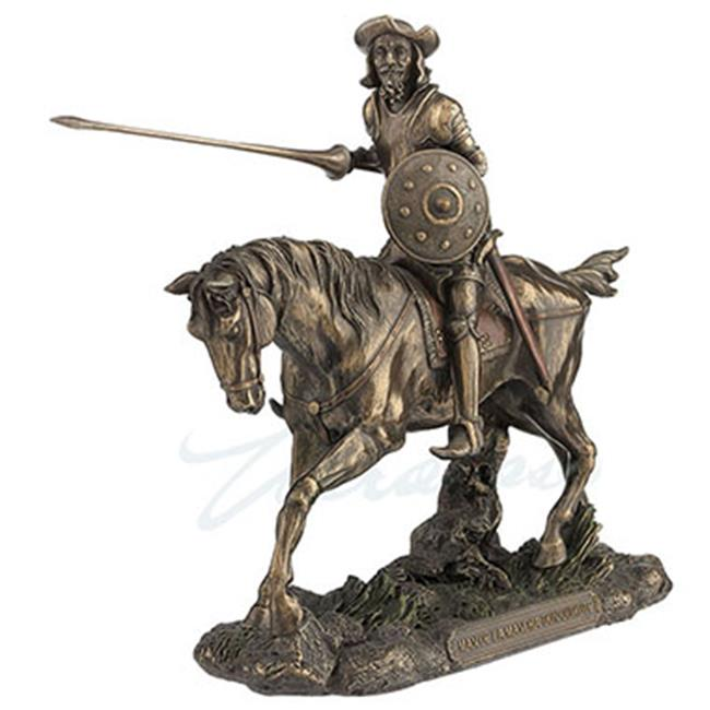 Unicorn Studios WU75982A4 Don Quixote Novel Writer Cold Cast Bronze Figurine