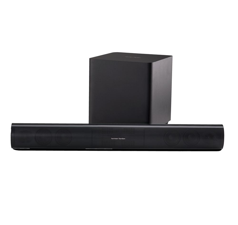 Harman Kardon SB26 Advanced Soundbar with Bluetooth and Powered Wireless Subwoofer by Harman Kardon