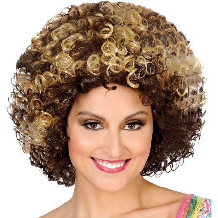 70s Afro Brown & Blonde Wig
