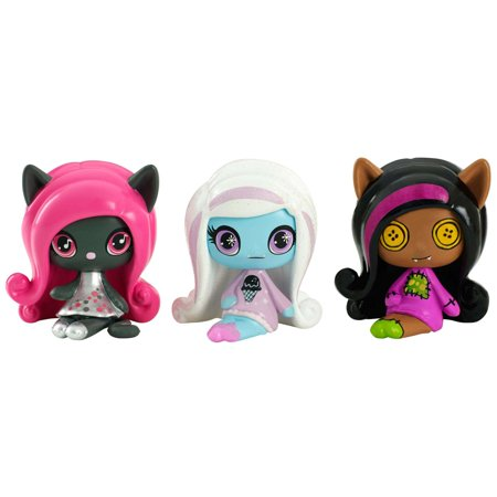 Monster High Minis Rag Doll Ghouls Clawdeen Wolf, a sparkling Candy Ghouls Abbey Bominable and an Original Ghouls Catty Noir Figures, 3 - Rag Doll Tutorial Halloween