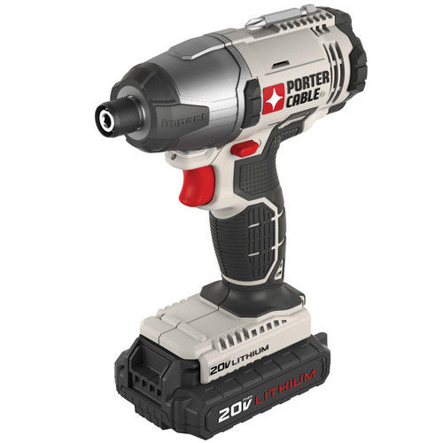 Factory-Reconditioned Porter-Cable PCC641LBR 20V MAX Cordless Lithium-Ion 1/4 in. Hex Impact Driver Kit (Refurbished)