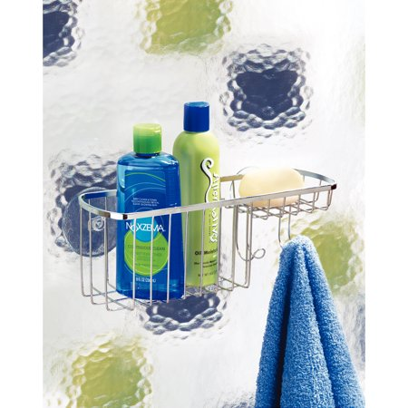 Stainless Steel Gia Suction Combo Two Shelf Organizer Basket - iDesign