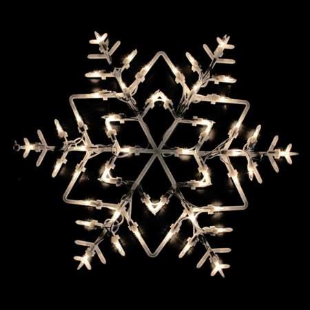 Northlight 18 in. Snowflake Double Sided Christmas Window Silhouette Decoration - Christian Christmas Decorations