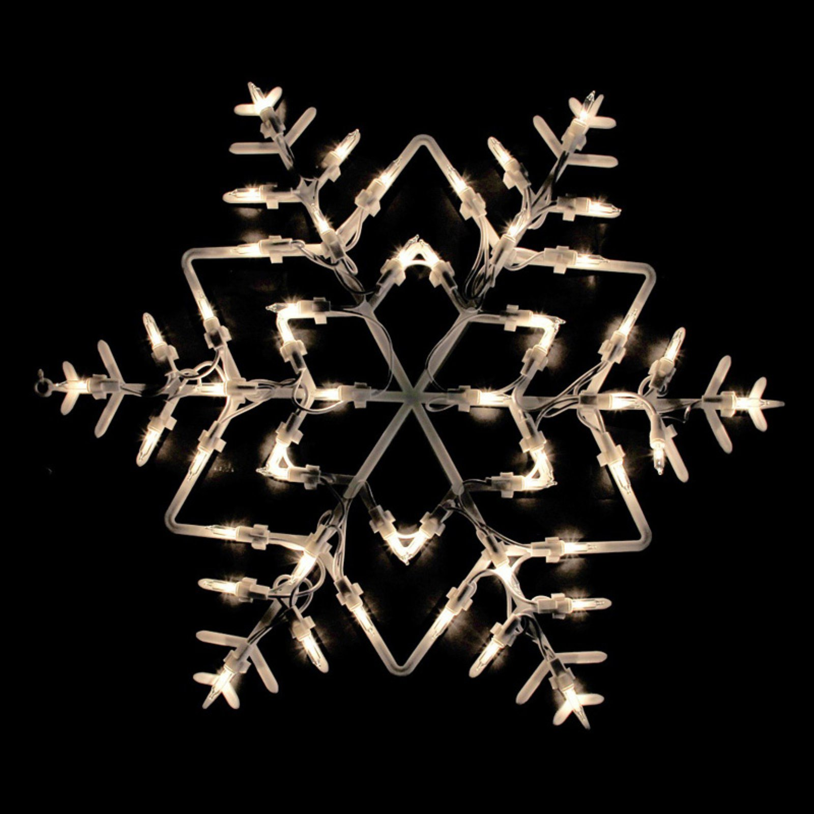 Northlight 18 in. Snowflake Double Sided Christmas Window Silhouette Decoration