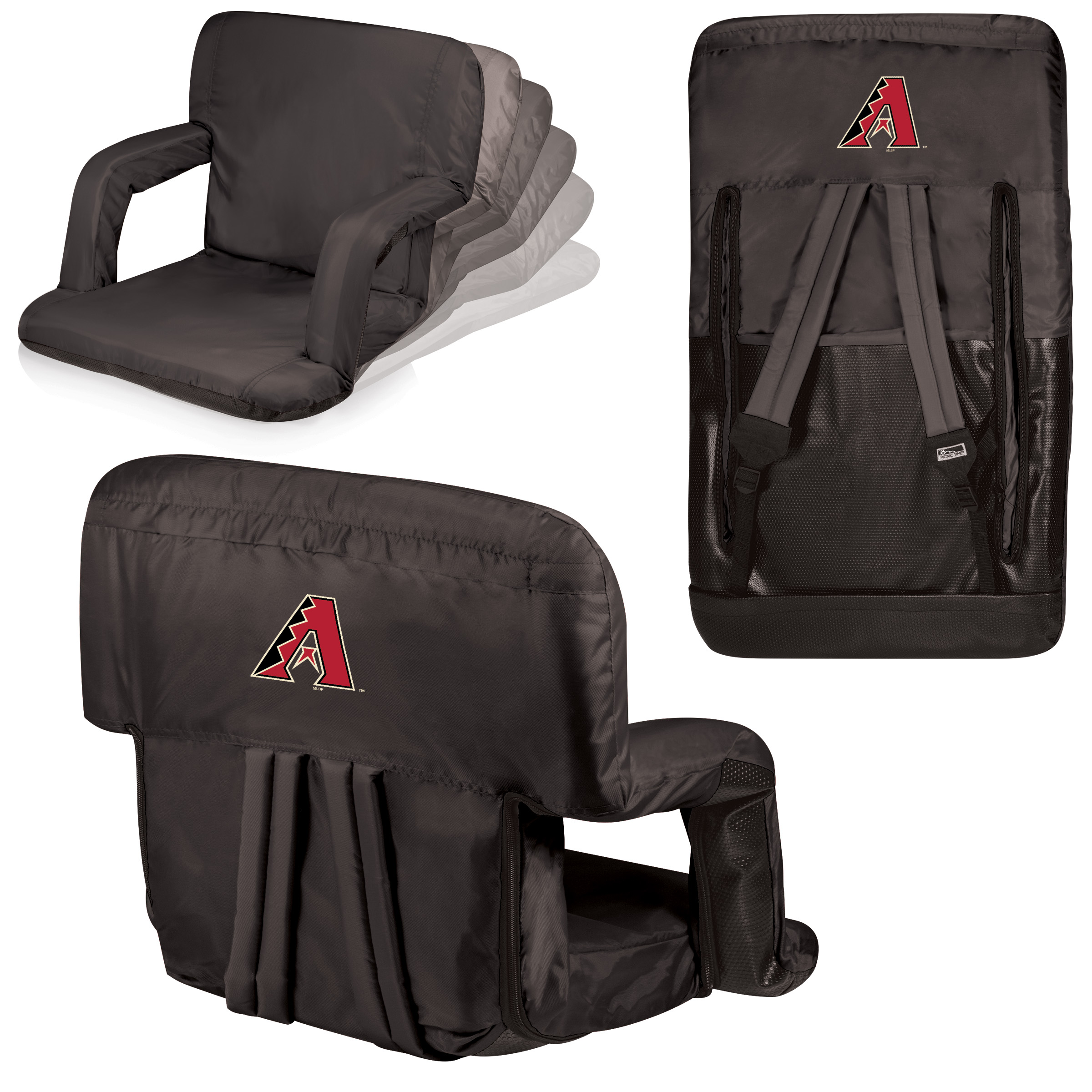 Arizona Diamondbacks Ventura Portable Seat - Black - No Size