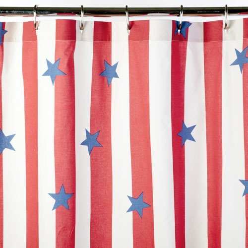 Mold Resistant Shower Curtain Country Star Shower Curtain