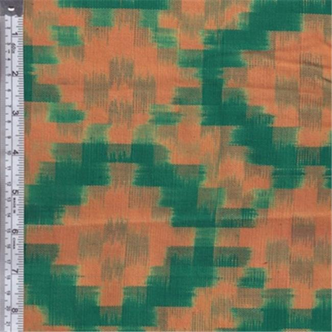 Textile Creations MY-006 Mayan Block, Squares Teal Peach