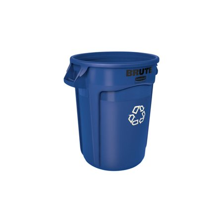 Recycle Trash Cans (Rubbermaid Commercial Products FG263273BLUE BRUTE Heavy-Duty Round Recycling Container 32 Gallon,)