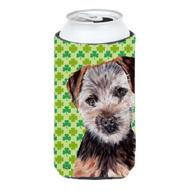 Norfolk Terrier Puppy Lucky Shamrock St. Patricks Day Tall Boy bottle sleeve Hugger - 22 To 24 Oz. - image 1 of 1